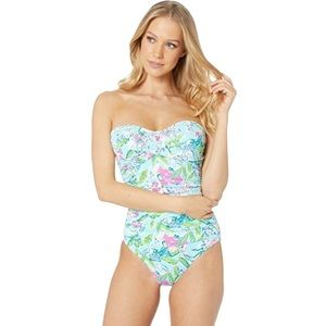 Lilly Pulitzer Flamenco Strapless Swimsuit Size 2
